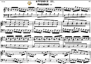 appendix 3, prelude in g major, j. s. bach, well tempered clavier ii, bischoff urtext ed. schirmer, a5, tablet edition, 6pp
