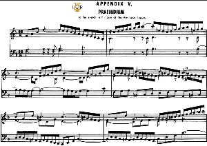 appendix 5, prelude to the sketch in f major of a-flat major fugue, j.s.bach, well tempered clavier ii, bischoff urtext ed. schirmer, a5, tablet edition, 3pp