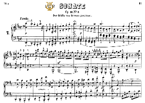 Piano Sonata No.7, Op.10 No.3 in D Major, L.V.Beethoven, Kohler-Ruthardt Rev., Ed. C.F.Peters (1880), A5, Tablet Edition, 28pp | eBooks | Sheet Music