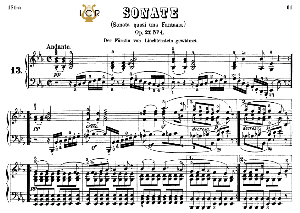 Piano Sonata No.13, Op.27 No.1 in E-Flat Major, L.V.Beethoven, Kohler-Ruthardt Rev.,Ed.C.F.Peters (1880), A5,Tablet Edition, 20pp | eBooks | Sheet Music