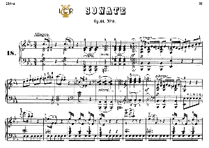 Piano Sonata No.18, Op.31 No.3 in E-Flat Major, L.V.Beethoven, Kohler-Ruthardt Rev.,Ed.C.F.Peters (1880), A5,Tablet Edition, 30pp | eBooks | Sheet Music