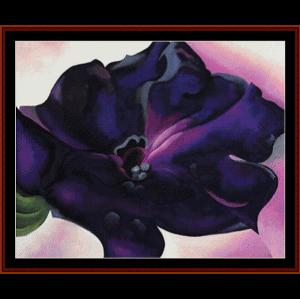 petunia - o'keeffe fine art cross stitch pattern by cross stitch collectibles