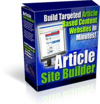 Article Site Builder! | Software | Internet