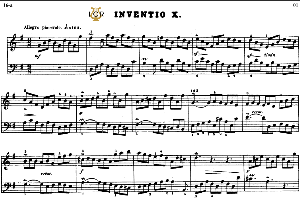 Invention No.10 in G Major, BWV 781, J.S.Bach, Bischoff Urtext, Kalmus reprint, A5, Tablet Edition, 2pp | eBooks | Sheet Music