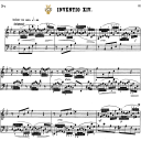 Invention No.14 in B-Flat Major, BWV 785, J.S.Bach, Bischoff Urtext, Kalmus reprint, A5, Tablet Edition, 2pp   eBooks   Sheet Music