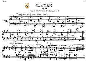 Piano Sonata No.30, Op.109 in E Major, L.V.Beethoven, Kohler-Ruthardt Rev.,Ed.C.F.Peters (1880), A5,Tablet Edition, 25pp   eBooks   Sheet Music
