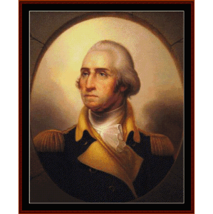George Washington fine art cross stitch pattern by Cross Stitch Collectibles | Crafting | Cross-Stitch | Wall Hangings
