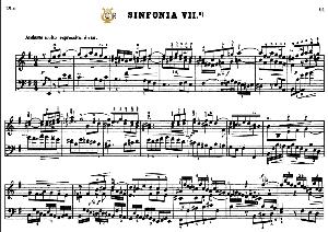 Sinfonia No.7 in E minor, BWV 793, J.S.Bach, Bischoff Urtext, Kalmus reprint, A5, Tablet Edition, 2pp   eBooks   Sheet Music