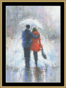 Rain Romance | Crafting | Cross-Stitch | Wall Hangings