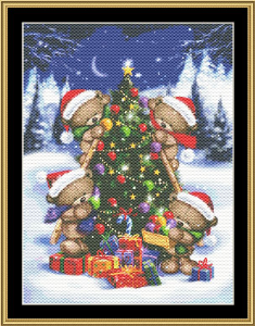 Holiday Bear V | Crafting | Cross-Stitch | Other