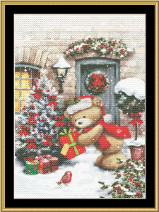 Santa Bear Iii | Crafting | Cross-Stitch | Wall Hangings