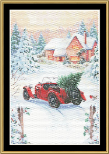 Christmas Landscape | Crafting | Cross-Stitch | Other