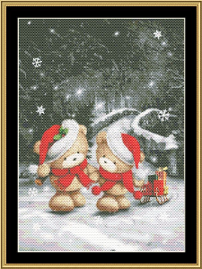 Christmas Couple | Crafting | Cross-Stitch | Wall Hangings