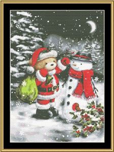 Santa Bear Ii | Crafting | Cross-Stitch | Wall Hangings