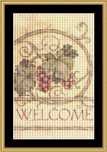Welcome - Small | Crafting | Cross-Stitch | Wall Hangings