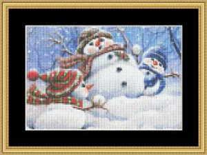Snow Play - Small | Crafting | Cross-Stitch | Other