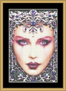 Birthstone Collection - February Small | Crafting | Cross-Stitch | Wall Hangings