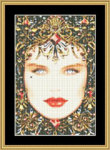 Birthstone Collection - January Small | Crafting | Cross-Stitch | Wall Hangings