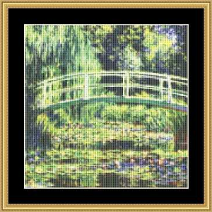 White Water Lilies - Small | Crafting | Cross-Stitch | Wall Hangings