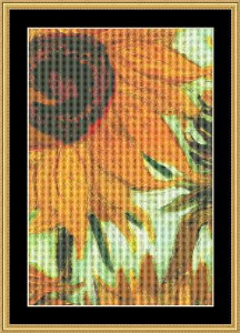 Sunflower Detail-Small | Crafting | Cross-Stitch | Wall Hangings