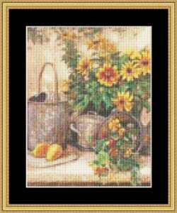 Sunflower Garden Ii-Small | Crafting | Cross-Stitch | Wall Hangings