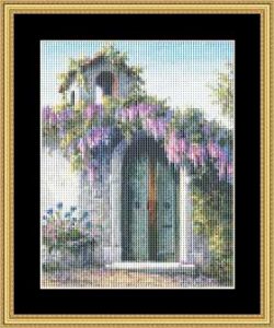 Wisteria - Small | Crafting | Cross-Stitch | Wall Hangings