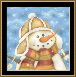 Snowman I | Crafting | Cross-Stitch | Wall Hangings