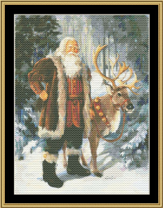 Woodland Santa Ii | Crafting | Cross-Stitch | Wall Hangings