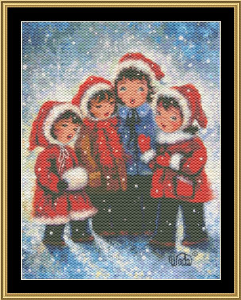 Four Christmas Carolers | Crafting | Cross-Stitch | Wall Hangings