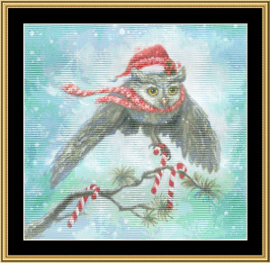 Owl Be Home For Christmas | Crafting | Cross-Stitch | Wall Hangings