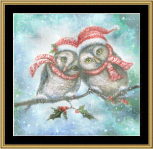 Owl I Want For Christmas | Crafting | Cross-Stitch | Wall Hangings