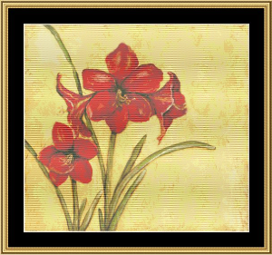 Christmas Blossom I | Crafting | Cross-Stitch | Wall Hangings