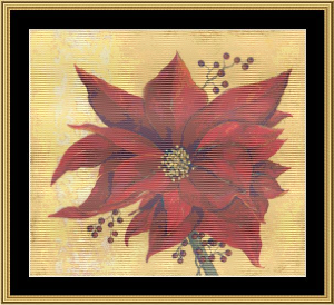 Christmas Blossom Ii | Crafting | Cross-Stitch | Wall Hangings