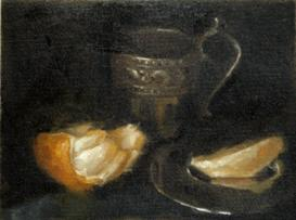 Artist Insight - Peeled Orange & Silver Cup