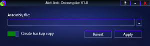 .Net Anti-Decompiler V1.0 | Software | Developer