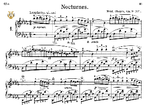 Nocturne No.1, Op.9 No.1 in B-Flat minor, F.Chopin, Scholtz, Ed.C.F.Peters (1904), A5, Tablet Edition (Landscape), 10pp | eBooks | Sheet Music