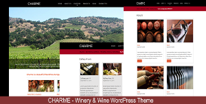 wordpress charme winery theme