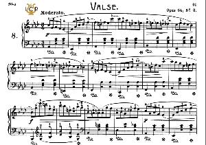 Waltz No.8, Op.64 No.3 in A-Flat Major, F.Chopin, Scholtz, Ed.C.F.Peters (1904), A5, Tablet Edition (Landscape), 11pp   eBooks   Sheet Music