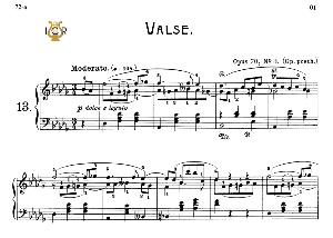 Waltz No.13, Op.70 No.3 in D-Flat Major, F.Chopin, Scholtz, Ed.C.F.Peters (1904), A5, Tablet Edition (Landscape), 7pp | eBooks | Sheet Music