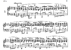 Etude B.130, No.3 in A-Flat Major, F.Chopin, Scholtz, Ed.C.F.Peters (1904), A5, Tablet Edition (Landscape), 4pp   eBooks   Sheet Music