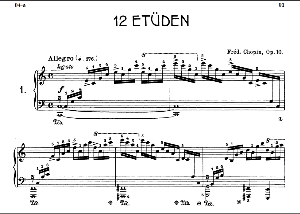 Etude Op.10 No.1 in C Major, F.Chopin, Scholtz, Ed.C.F.Peters (1904), A5, Tablet Edition (Landscape), 10pp | eBooks | Sheet Music