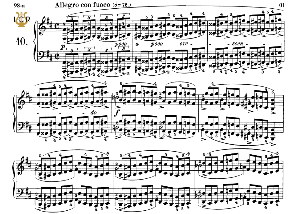 Etude Op.10 No.10 in A-Flat Major, F.Chopin, Scholtz, Ed.C.F.Peters (1904), A5, Tablet Edition (Landscape), 10pp   eBooks   Sheet Music