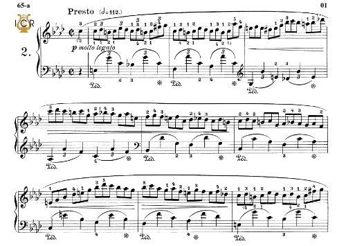 First Additional product image for - Etude Op.25 No.2 in F minor, F.Chopin, Scholtz, Ed.C.F.Peters (1904), A5, Tablet Edition (Landscape), 8pp