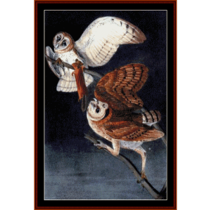 Barn Owls - Wildlife cross stitch pattern by Cross Stitch Collectibles | Crafting | Cross-Stitch | Wall Hangings