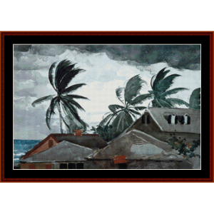 Hurricane Bahamas - Homer cross stitch pattern by Cross Stitch Collectibles | Crafting | Cross-Stitch | Wall Hangings