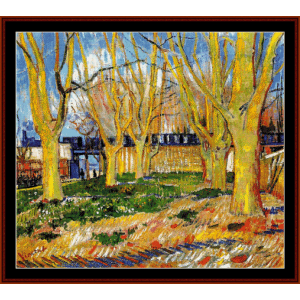 Avenue of Trees - Van Gogh cross stitch pattern by Cross Stitch Collectibles | Crafting | Cross-Stitch | Wall Hangings