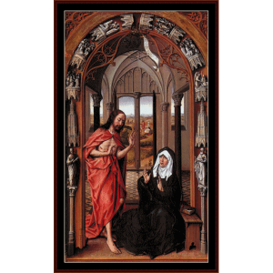 Christ Appearing to his Mother - Van der Weyden cross stitch pattern by Cross Stitch Collectibles | Crafting | Cross-Stitch | Wall Hangings