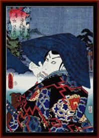 Ukiyo-e 1 - Asian Art cross stitch pattern by Cross Stitch Collectibles | Crafting | Cross-Stitch | Wall Hangings