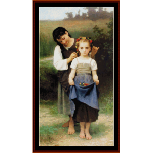 posies - bouguereau cross stitch pattern by cross stitch collectibles