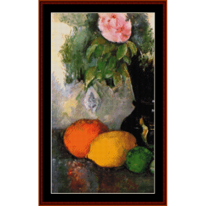 Flowers and Fruit - Cezanne cross stitch pattern by Cross Stitch Collectibles | Crafting | Cross-Stitch | Wall Hangings